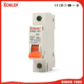 Miniature Circuit Breaker 4.5KA 63A 3P with SEMKO
