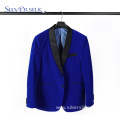 Bespoke Suits Velour Royal Blue Blazer for Men