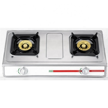 Butterfly 2 Burner Gas Stove Stainless Steel