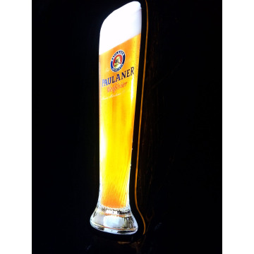 Paulaner led bottle display 4C screen printed