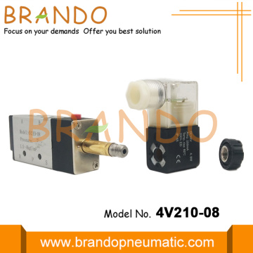4V210-08 1/4'' 5/2 Way Pneumatic Solenoid Valve