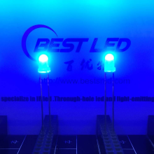 3mm 450nm 455nm 460nm Blue LED 80 Degree