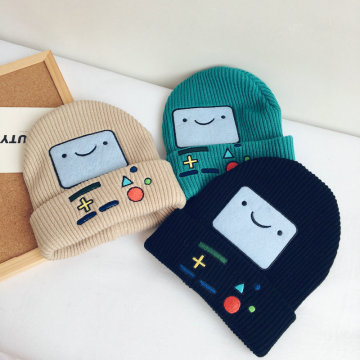 Cartoon Embroidery Patches Smile Cotton Cap Outdoor Hat