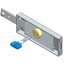Left roller shutter lock computer key straight bolt