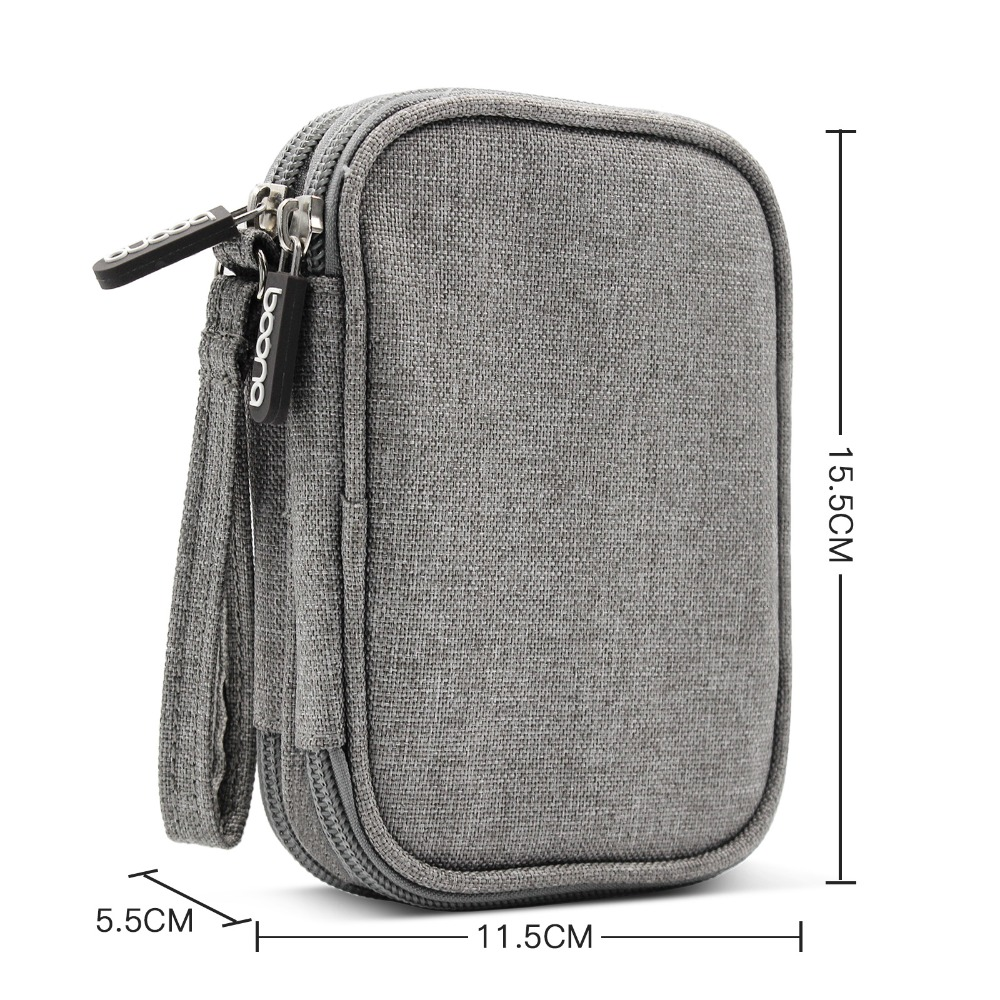 Oxford Fabric Double Deck Soft Shockproof Carrying Digital Organizer Travel External Storage Bags HDD Case Hard Drive Pouch Bag