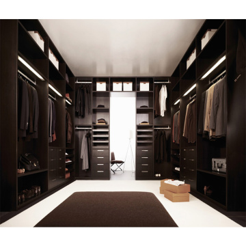 Custom Black Luxury Bedroom Wardrobe