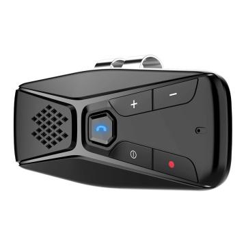 Universal Bluetooth 5.0 Sun Visor Clip Wireless Audio Receiver Rechargeable Battery Speakerphone Music Player Handsfree Car Kit