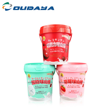 Wholesale tamper proof cookie bucket plastic food container