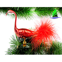 Christmas gift ornaments glass big flamingo figurines