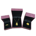 Glitter Paper Plastic Jewelry Box Set