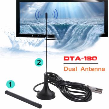 Indoor Digital TV Antenna HDTV Dual Antenna DTA-180 50 Miles For Fox Antenna ATSC ISDB TV Interior Antennas Amplifier