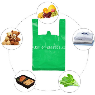 Reusable Plastic Shopping Bags with Handles