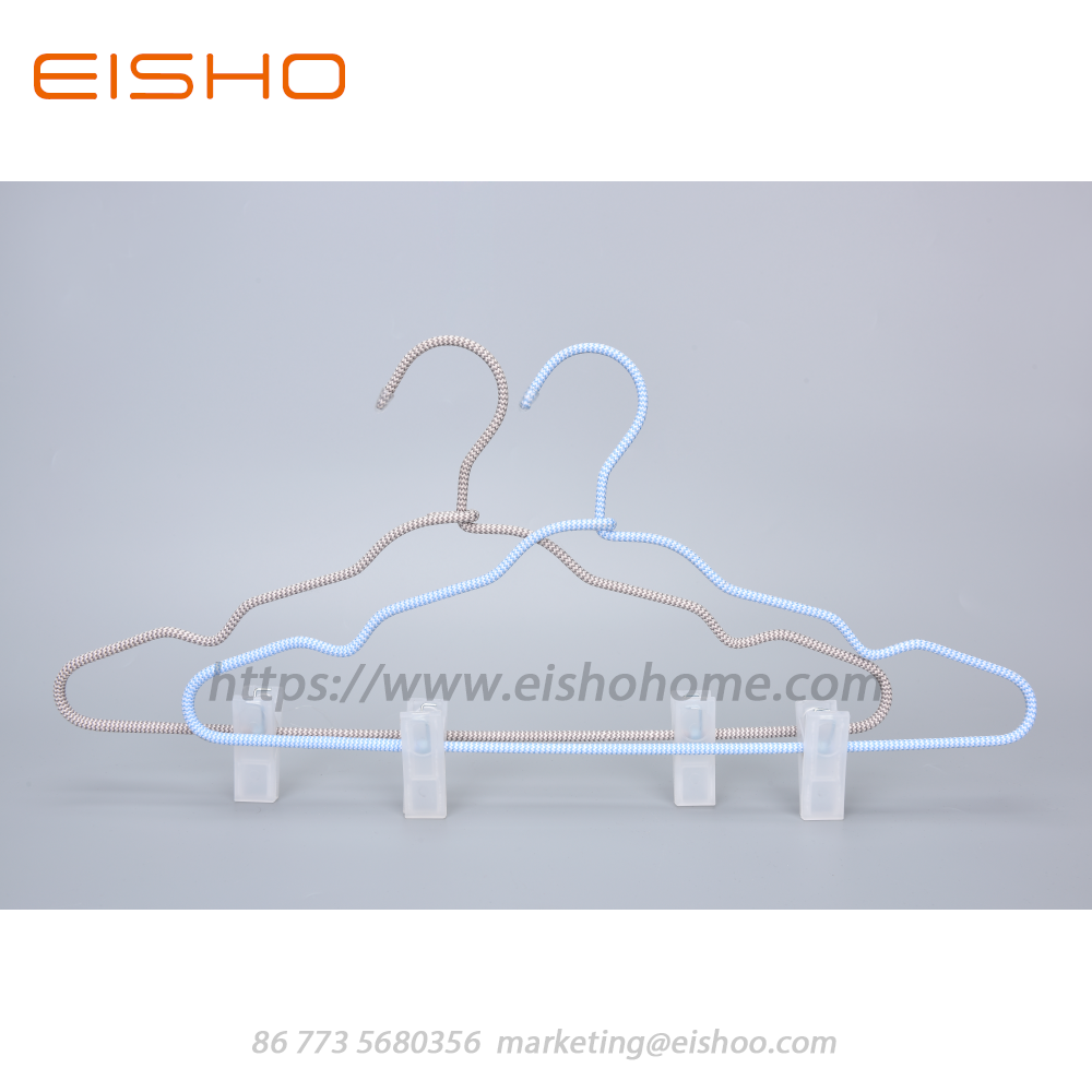 13 Eisho Cord Covered Coat Hangers With Clips