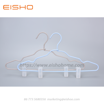 EISHO Cord Covered Coat Hangers With Clips