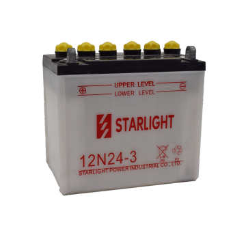 12V24AH 12N24-3 Conventional Motorcycle Batteries