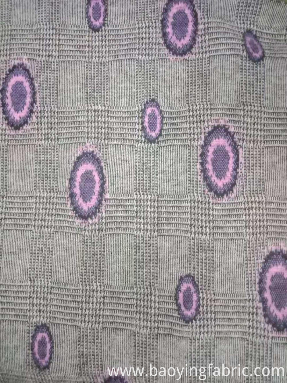 yarn dyed jacquard brushed fabric
