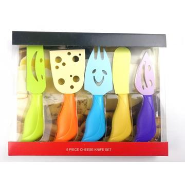 Colorful butter spreader cheese knife