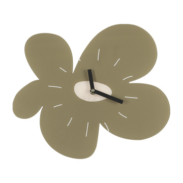 Flower Shaped Acrylic Wall Clock