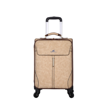 Wholesale PU airport trolley luggage suitcase