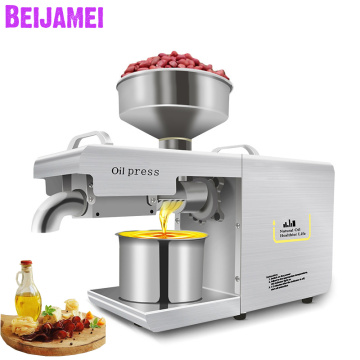BEIJAMEI New Arrival Peanut Oil Press Machine Electric Nut Seed Soybean Oil Extraction Vegetable Seeds Oil Making Machine