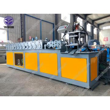 Roller shutter door rolling machine without solder joints
