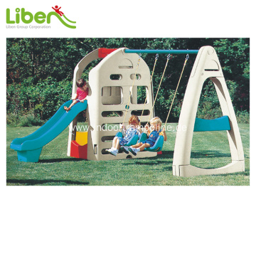 Indoor kids slide with swing