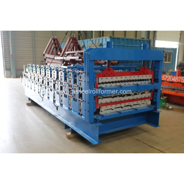 Three layer metal roof sheet rolling forming machine