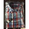 Cotton classic print check shirt for men