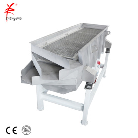 Linear motion rectangular vibrating screen sieving
