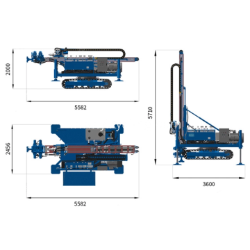 Rubber crawler hydraulic diesel anchoring drilling rig
