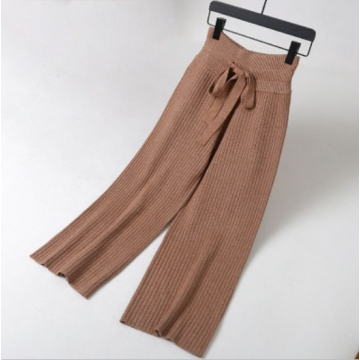 Winter Loose Wide leg Trousers Knitted