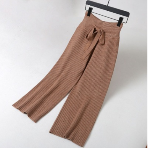 Factory Knitted Wide Leg Pants