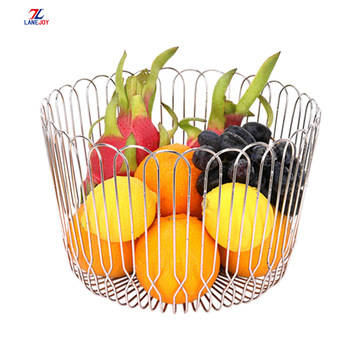 factory produces Stainless Steel wire fruit Storage Basket
