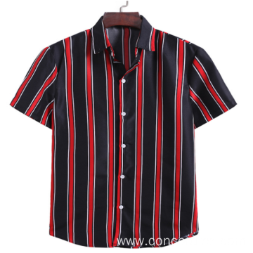 branded stripe mens shirts