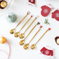 Custom Metal  Christmas Coffee Spoon Set