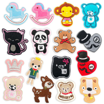 Cartoon Animals Mini Iron on Embroidery Patches