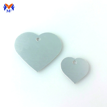 Stainless steel blank heart dog tag