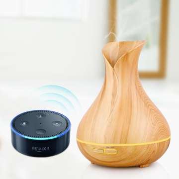 Aplicație / control vocal Wifi Smart Aroma Oil Diffuser cu ultrasunete