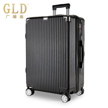 Wheeled cabin luggage suitcase with durable materials