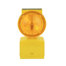 road construction solar traffic barricade warning lights