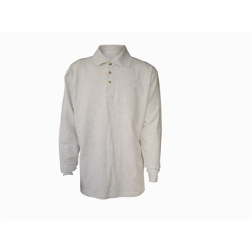 100% cotton men's polo-shirt long sleeve