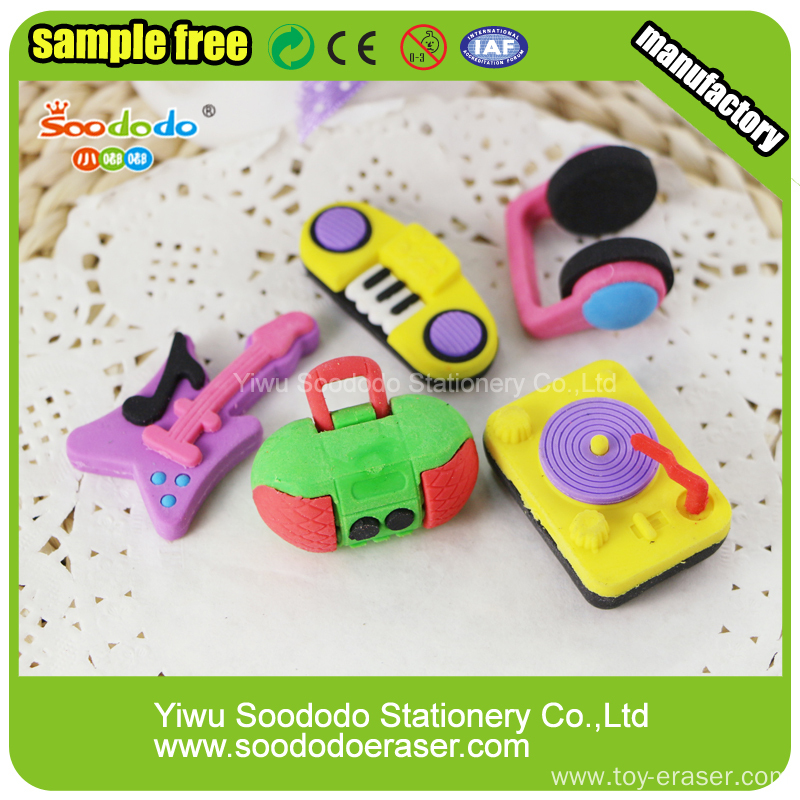 Music Shape Rubber Eraser For Holiday