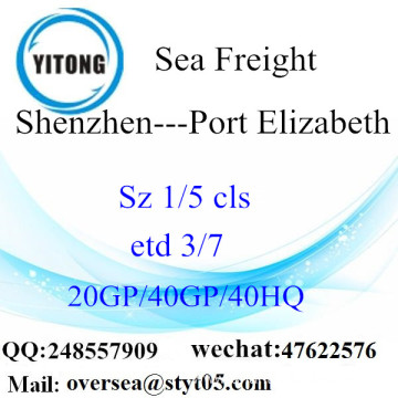 Shenzhen Port Sea Freight Shipping To Port Elizabeth