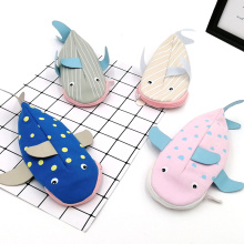 Custom unique fish shape cute canvas pencil case