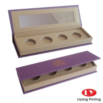 Magnet eyeshadow brush box with mirror