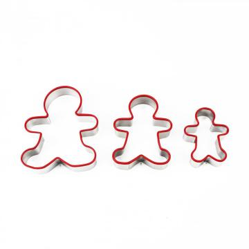Stainless Steel Cookie Cutter with Silicone Edge Ginberman