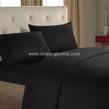 100% polyester microfiber stripe sheet set 4pcs