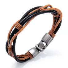 Vintage leather string bracelet for women