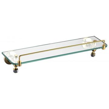 Golden glass shelf single for bathroom