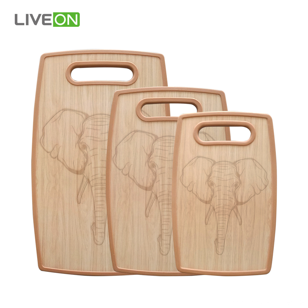 Kitchen Board 3 Pieces Plastic Cutting Board Set